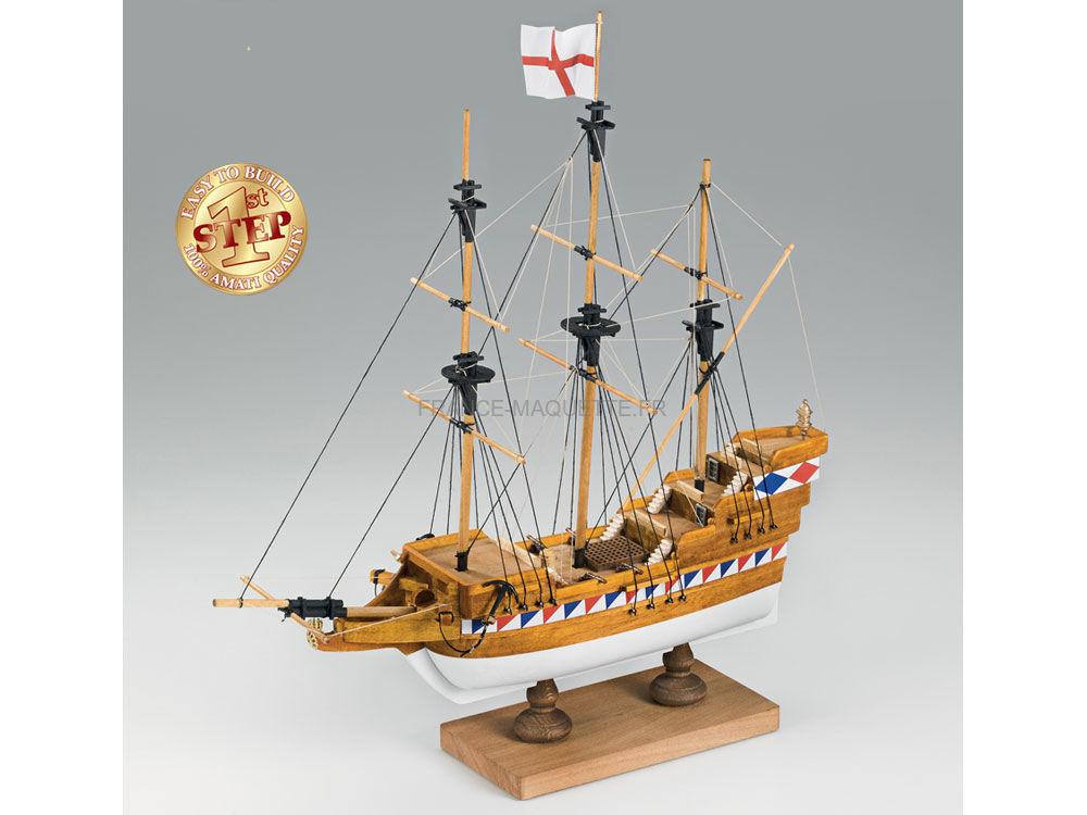 maquette bateau bois galion lisab thain 1 135 amati 600 02. Black Bedroom Furniture Sets. Home Design Ideas