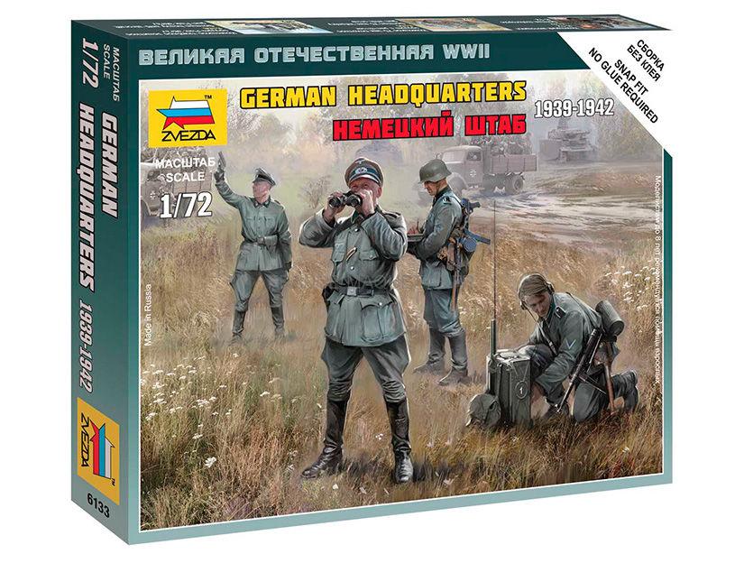 ZVEZDA 6133-1//72 Etat-Major Allemand 2ème guerre mondiale