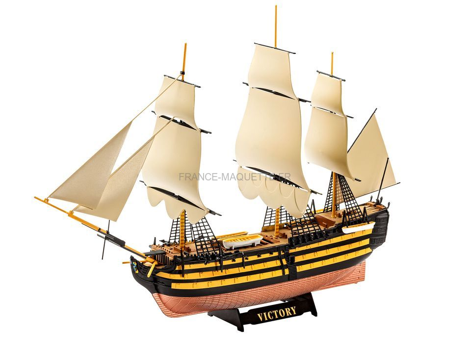 maquette de voilier hms victory 1 450 revell 05819. Black Bedroom Furniture Sets. Home Design Ideas