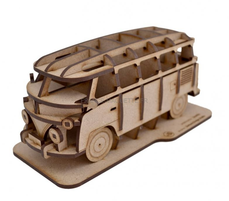 maquette en bois volkswagen combi. Black Bedroom Furniture Sets. Home Design Ideas