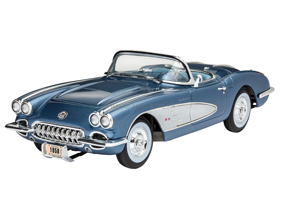 maquette de voiture 58 corvette roadster 1 25 revell. Black Bedroom Furniture Sets. Home Design Ideas