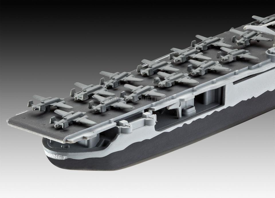 maquette navire militaire   model set uss hornet