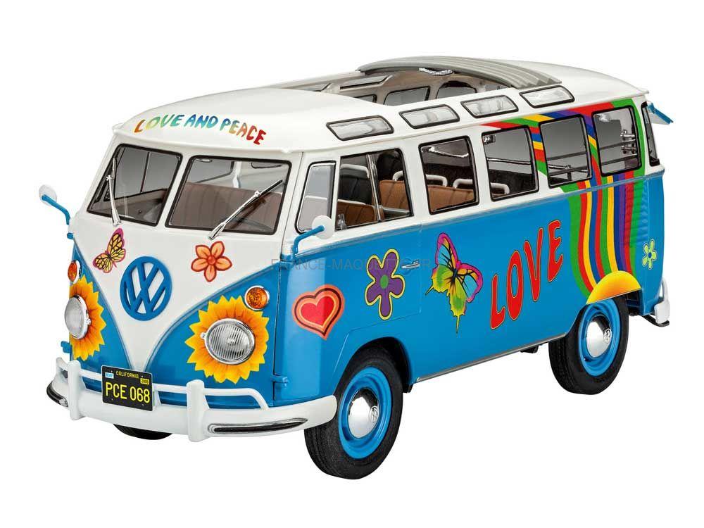 maquette de bus volkswagen samba t1 flower power 1. Black Bedroom Furniture Sets. Home Design Ideas