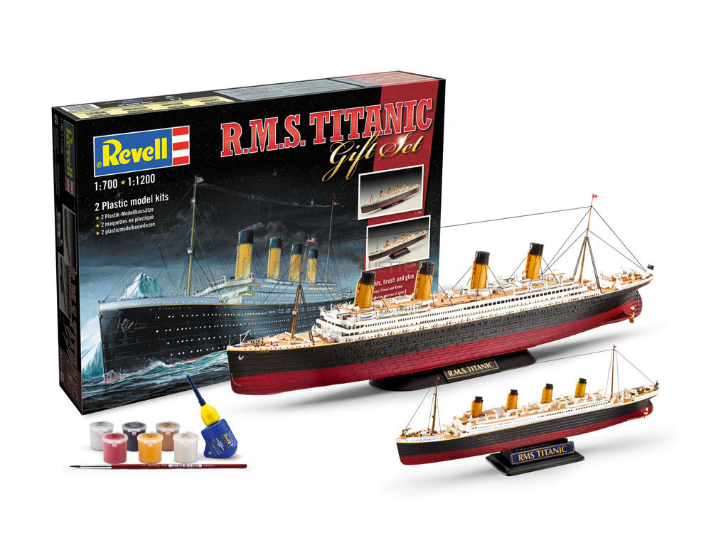 maquette bateau de croisi re coffret cadeau 2 r m s titanic 1 700 1 1200 revell. Black Bedroom Furniture Sets. Home Design Ideas
