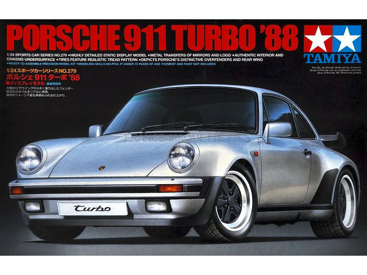 maquette de voiture de sport porsche 911 turbo 1 24 tamiya 24279. Black Bedroom Furniture Sets. Home Design Ideas