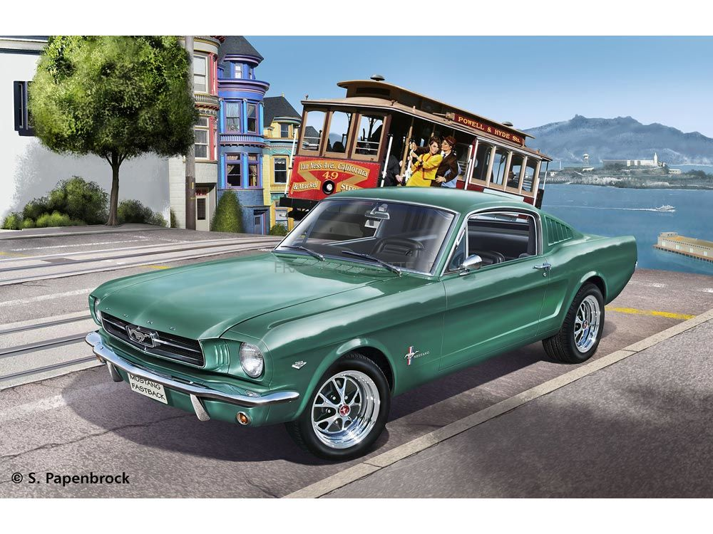 maquette de voiture 1965 ford mustang 2 2 fastback 1. Black Bedroom Furniture Sets. Home Design Ideas