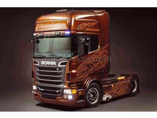 maquette camion scania r black amber 1 24 italeri 03897. Black Bedroom Furniture Sets. Home Design Ideas