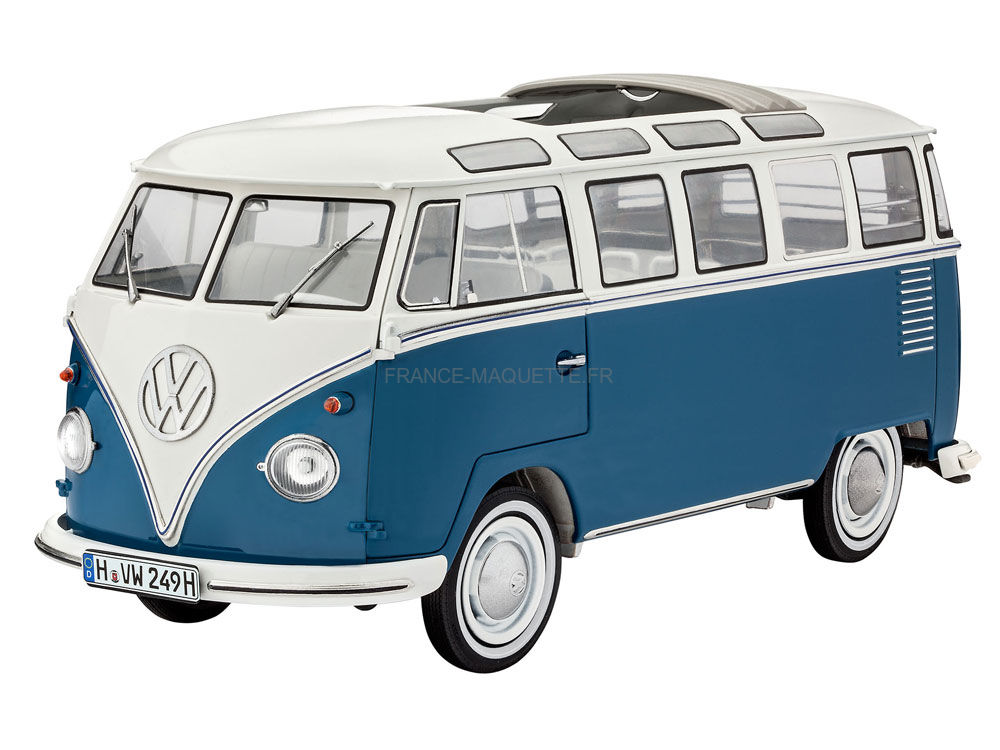 maquette de bus volkswagen typ 2 t1 samba bus revell 7009 au 1 16. Black Bedroom Furniture Sets. Home Design Ideas