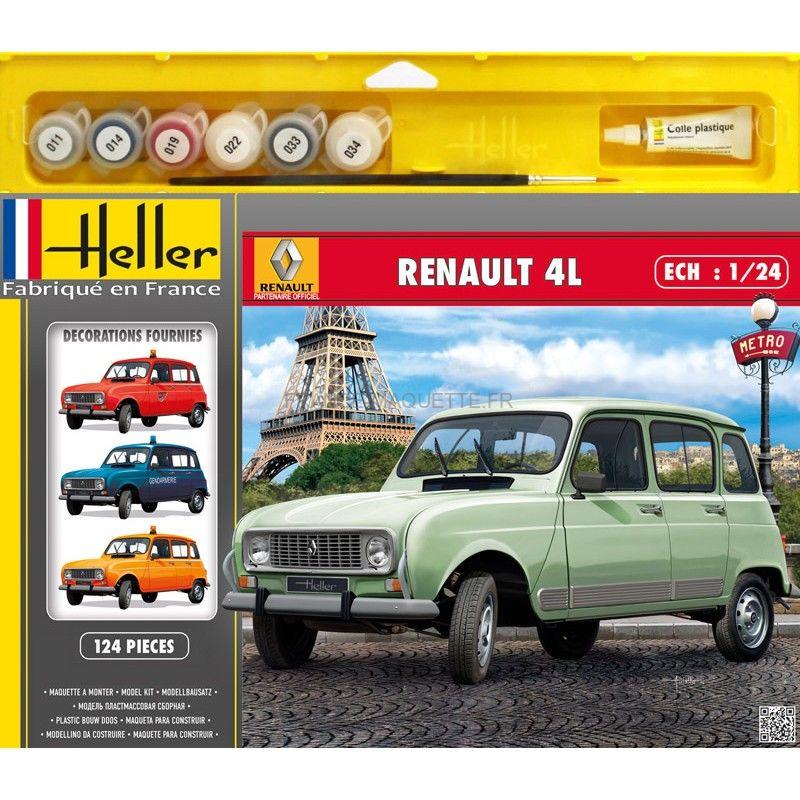 Maquette Voiture De Collection : Renault 4L GTL
