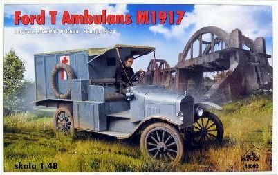 maquette v hicule militaire ford t m 1917 ambulance arm e fran aise 1 48 rpm 48002. Black Bedroom Furniture Sets. Home Design Ideas